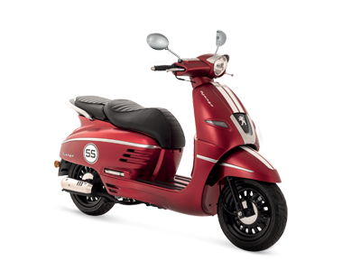 DJANGO 125 ABS RED - DJ125SYRT4 - Peugeot Motocycles